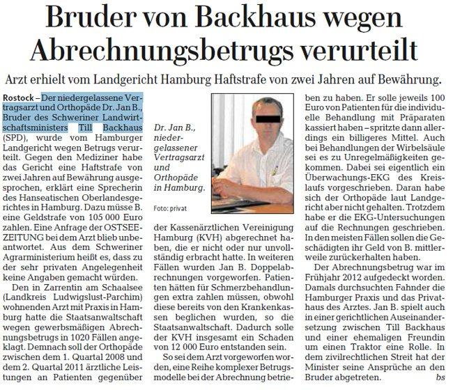 Löschner, Backhaus, Pressekodex — über die Wirksamkeit von Anonymisierungen