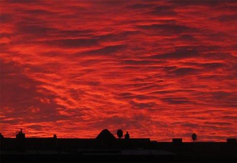 Sonnenaufgang in der Fleischervorstadt in Greifswald