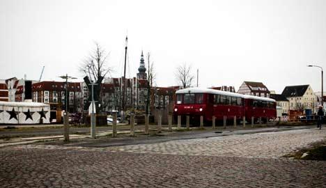 Einweihung der Bahn von Greifswald nach Ladebow