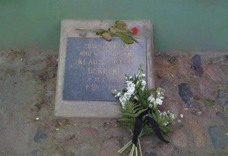 Gedenkstein für getöteten Obdachlosen in Greifswald