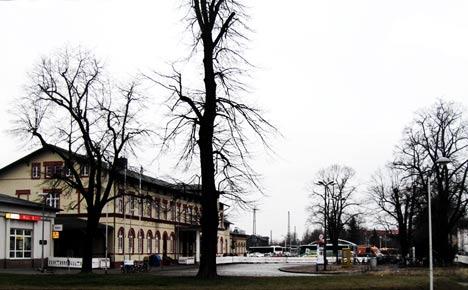 Bahnhofsvorplatz in Greifswald
