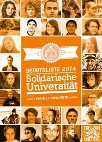 Wahlplakat der Solidarischen Universität Greifswald