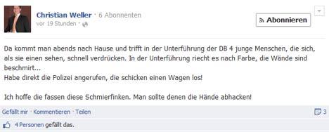 Geschäftsführer der CDU-Fraktion fordert harte Strafen gegen illegale Sprayer