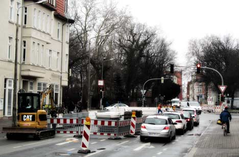 Nächster Teilabschnitt der Gützkower Straße wird gesperrt