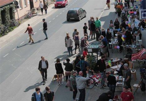 Foto vom Stadtteilflohmarkt in der Fleischervorstadt in Greifswald