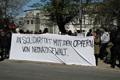 Solidaritätskundgebung vor dem Greifswalder Amtsgericht