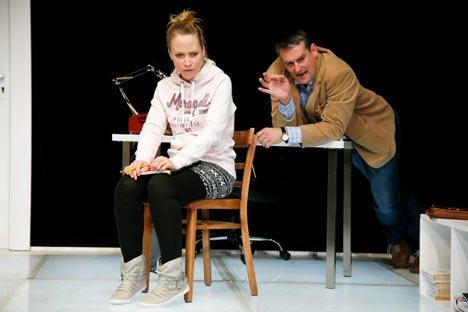 Oleanna ein Machtspiel, Inszenierung am Theater Vorpommern 2014