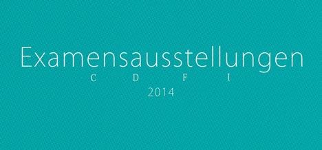 Flyer der Examensausstellung am Kunstinstitut in Greifswald