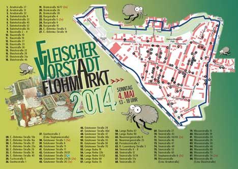 Laufplan Stadtteilflohmarkt Greifswald 2014
