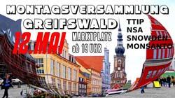 Montagsdemo Greifswald