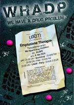 We have a drug problem flyer