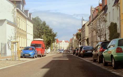 Sanierte Wiesenstraße in Greifswald