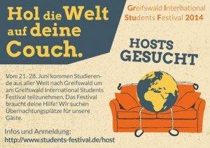 Internationales Studentenfestival GrIStuF braucht dein Sofa und dich!