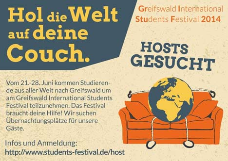 GrIStuF Hosts gesucht Flyer