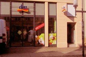 Neueröffnung des dm-Markts in der Greifswalder Innenstadt