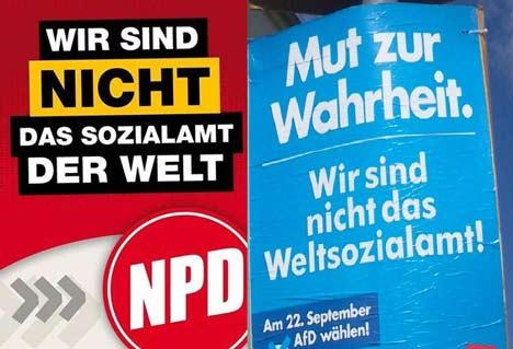 """AfD-Plakat """"Wir sind nicht das Weltsozialamt"""""""