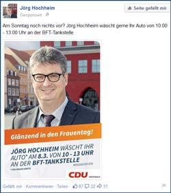 OB Wahlkampf Greifswald Jörg Hochheim Facebook
