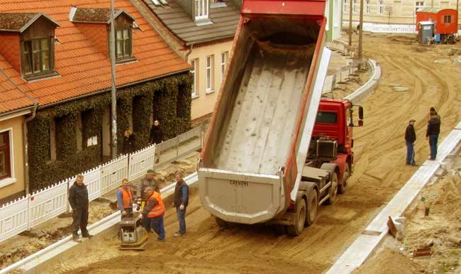 Vollsperrung Baustelle Gützkower Straße Greifswald