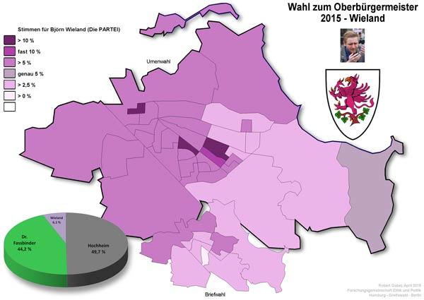 Wo hatte Björn Wieland die meisten Wähler?