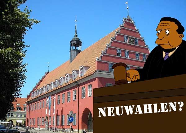 greifswald oberbürgermeisterwahl neuwahl einspruch