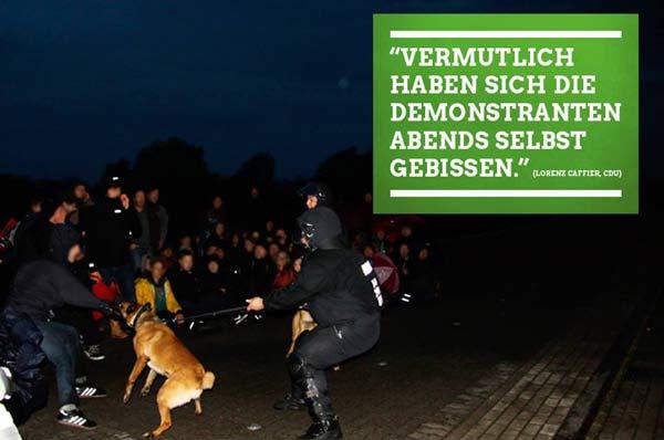 polizei hunde demonstration-demmin