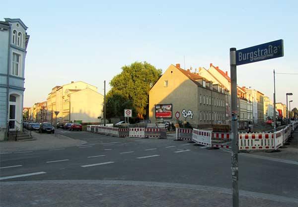 burgstraße greifswald baustelle
