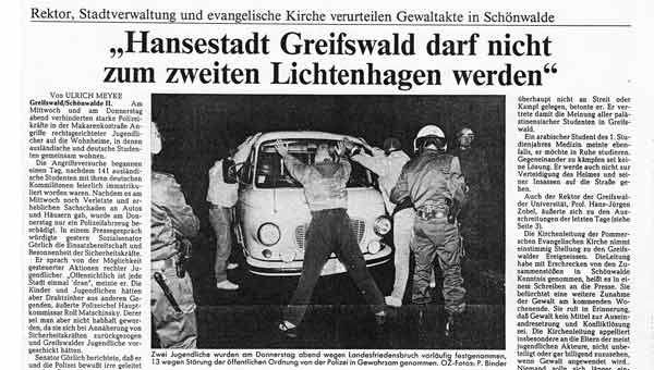 rassistische krawalle greifswald