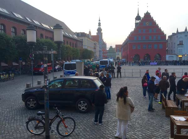 ffdg demo greifswald absperrungen
