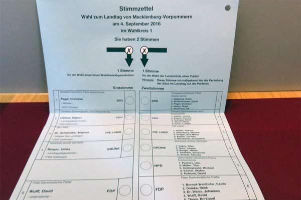 stimmzettel landtagswahl mv 2016