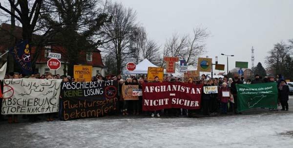 Afghanistan Mahnwache in Greifswald