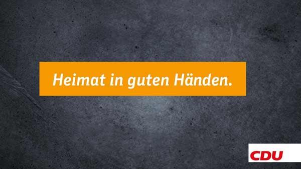 Heimat in guten Händen, CDU MV