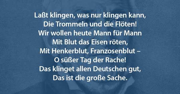 Ernst Moritz Arndt Vaterlandslied