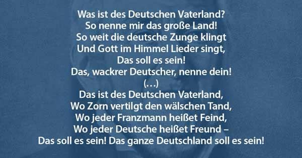 Ernst Moritz Arndt Was ist des Deutschen Vaterland?