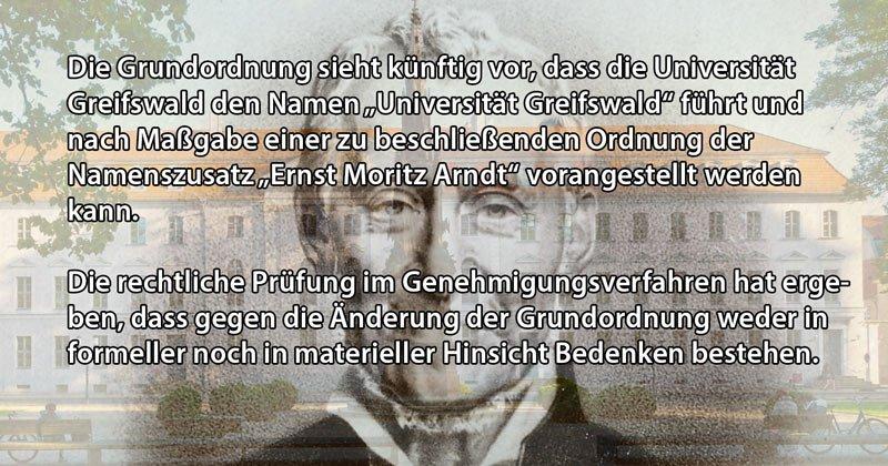 Namensstreit Universität Greifswald Bildungsministerium
