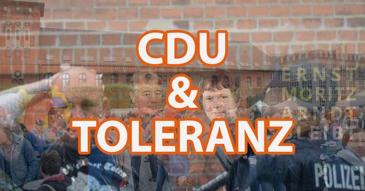 CDU und Toleranz