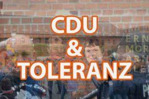 Die CDU und die Toleranz