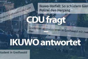 Kleine Anfrage: die CDU fragt — das IKUWO antwortet