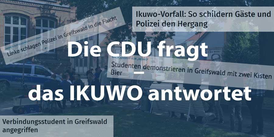 Kleine Anfrage CDU IKUWO