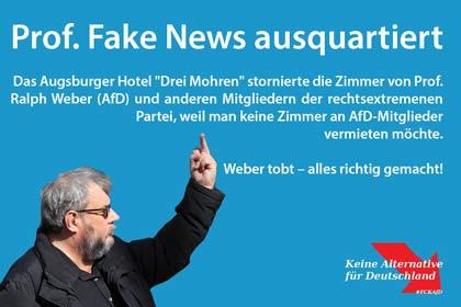 Augsburger Hotel quartiert AfD-Politiker Ralph Weber und andere Rechte aus