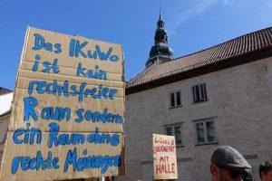 250 Personen demonstrierten gegen Kriminalisierung linker Räume