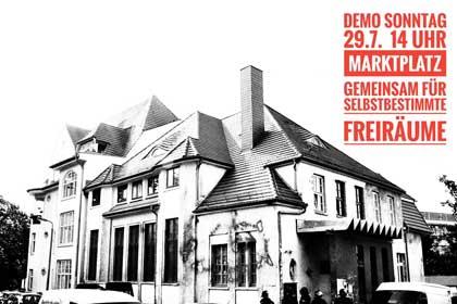 Demonstration für selbstbestimmte Freiräume und gegen Kriminalisierung linker Politik