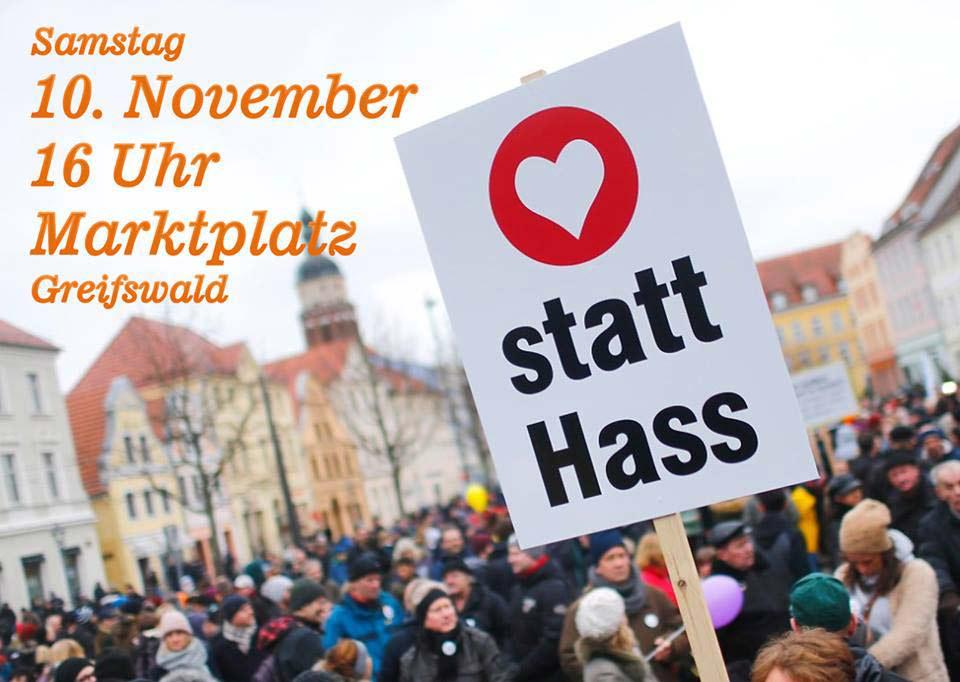 Gegendemo gegen AfD in Greifswald