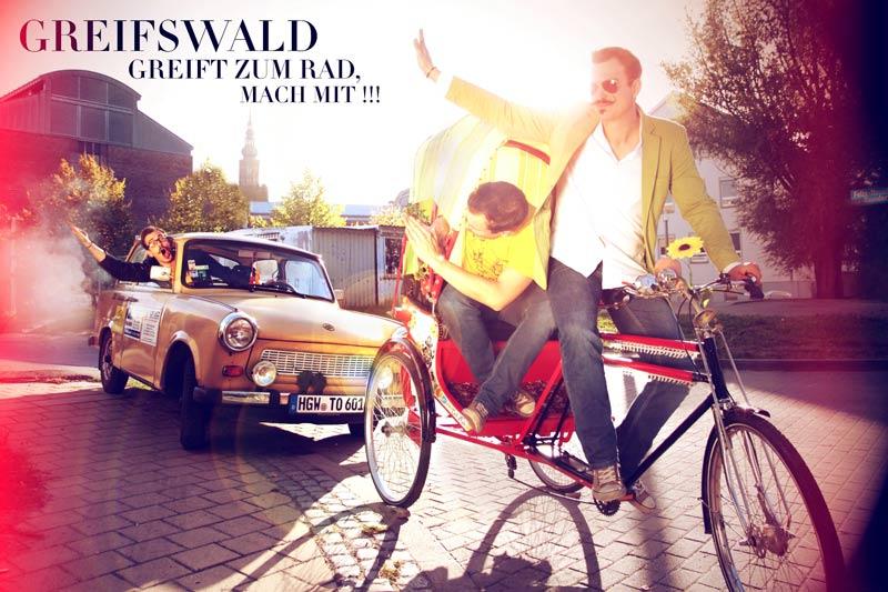 """Der Wettbewerbsgewinner: """"Greifswald greift zum Rad"""""""