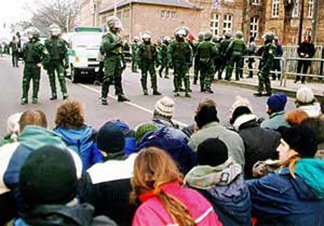 NPD-Demonstration am 14.01.2001