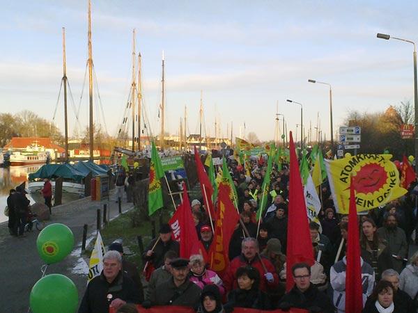 Eindrücke von der Greifswalder Auftaktdemonstration zum Castor 2011