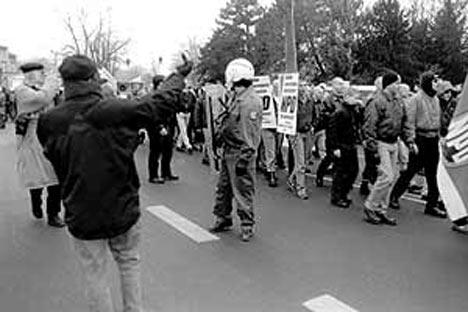NPD-Demonstration am 14.01.2001