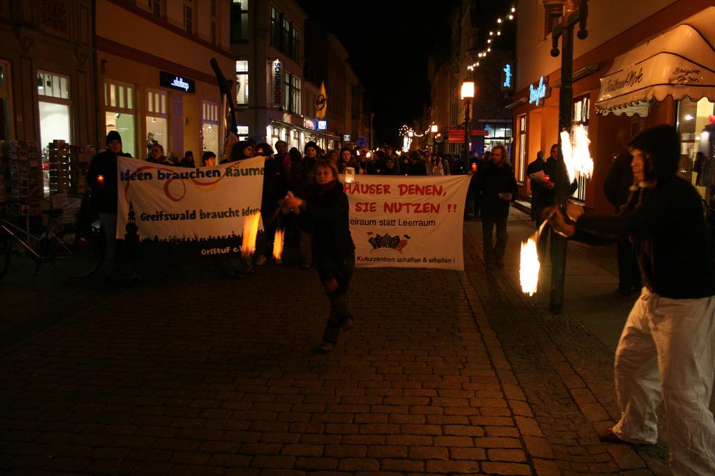 Demonstration für den Erhalt der Straze - 14.12.2009