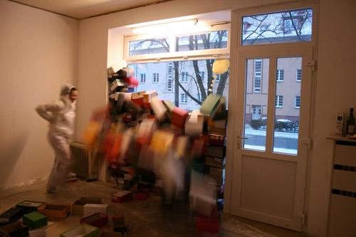 Performance von Sonja Grädler in der Alten Bäckerei
