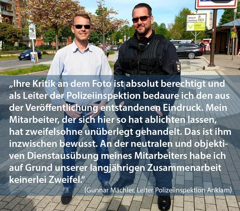 Polizeileiter distanziert sich von Foto mit AfD-Politiker Nikolaus Kramer