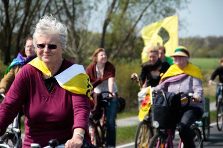 Festgehalten: Anti-Atom-Treck in Lubmin